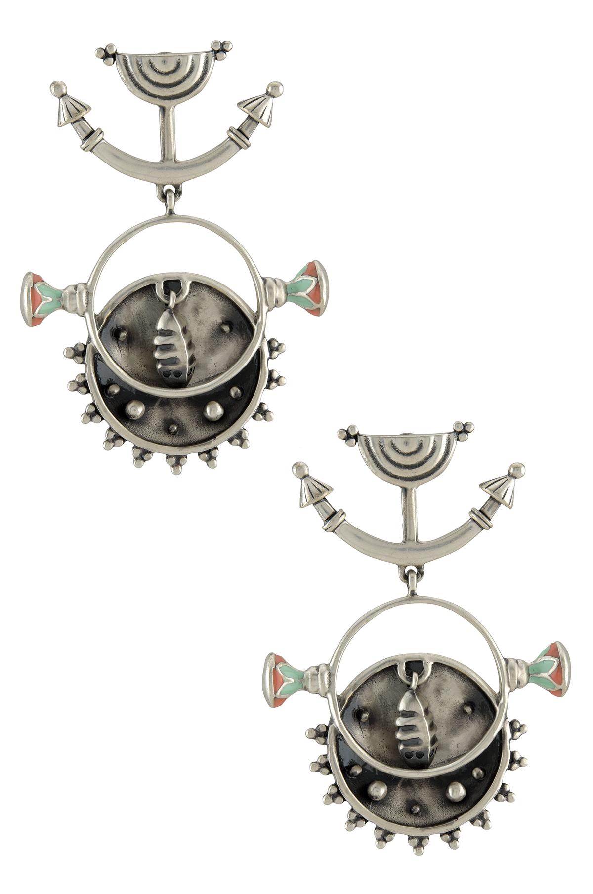 Chandrika Lotus Chakra Earrings