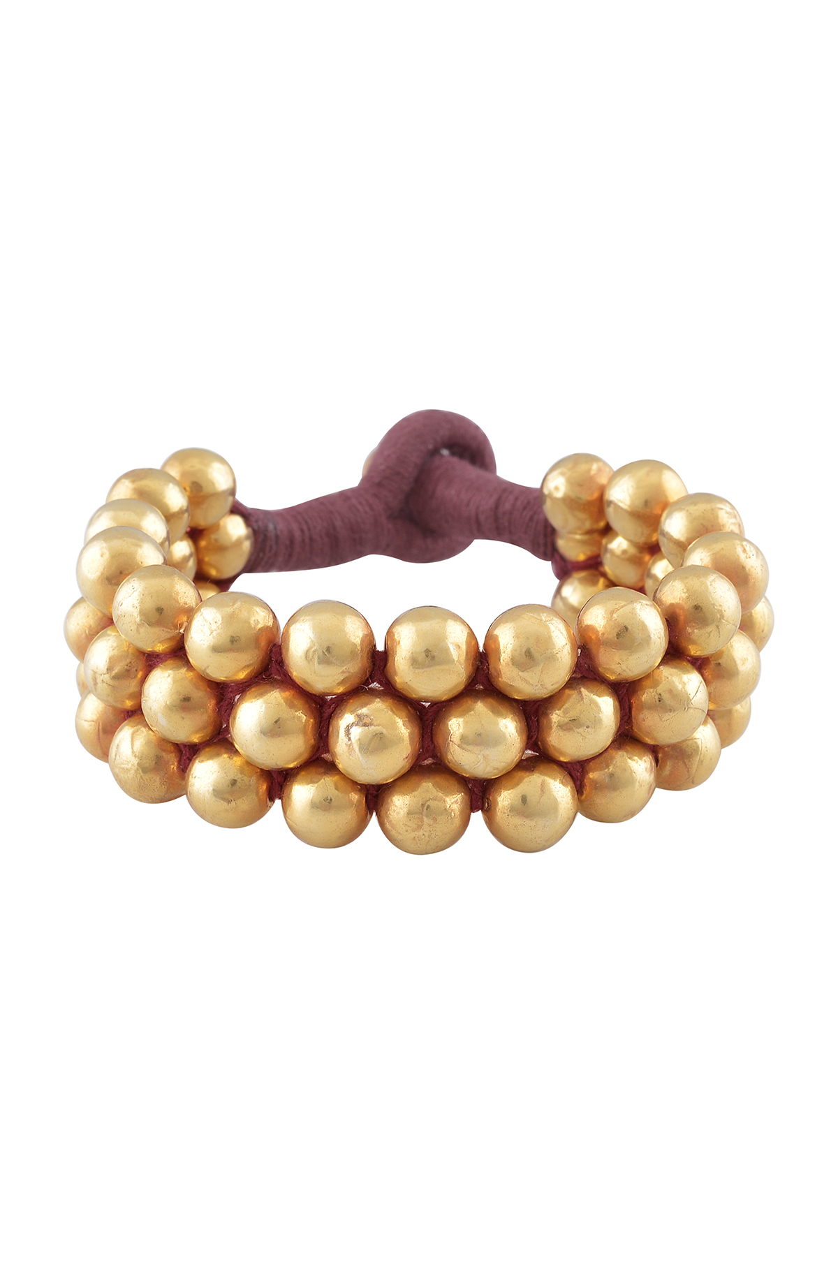 Silver Gold Plated Round Beads Paunchi