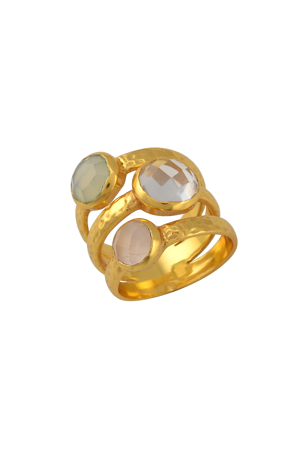 Gold Plated Multi Stone Ring