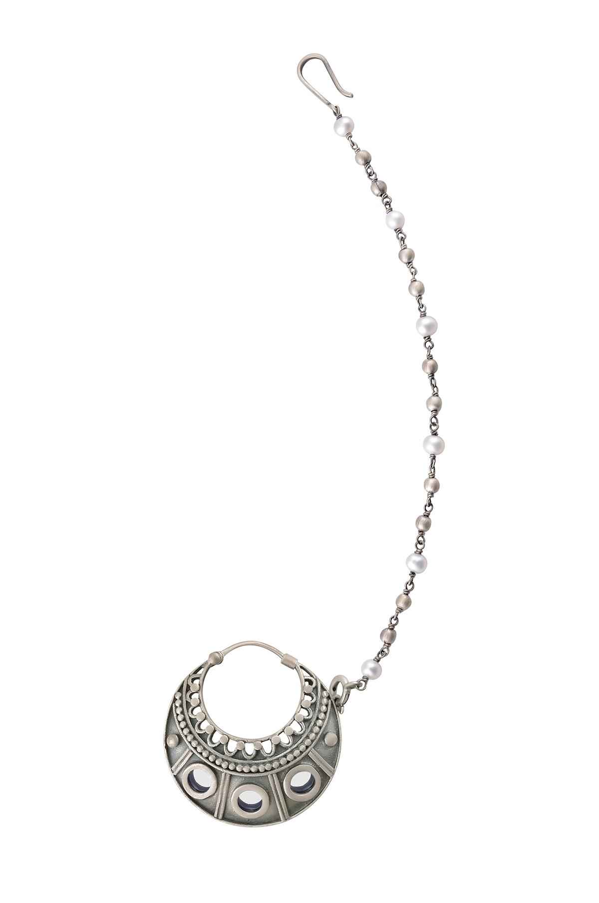 Silver Mirror Rawa Pearl Nose Ring