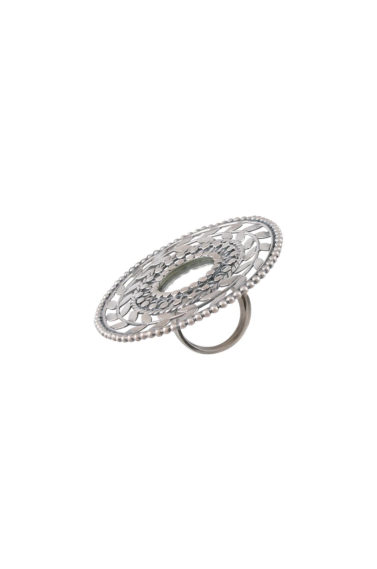 Silver Mirror Leaf Ring