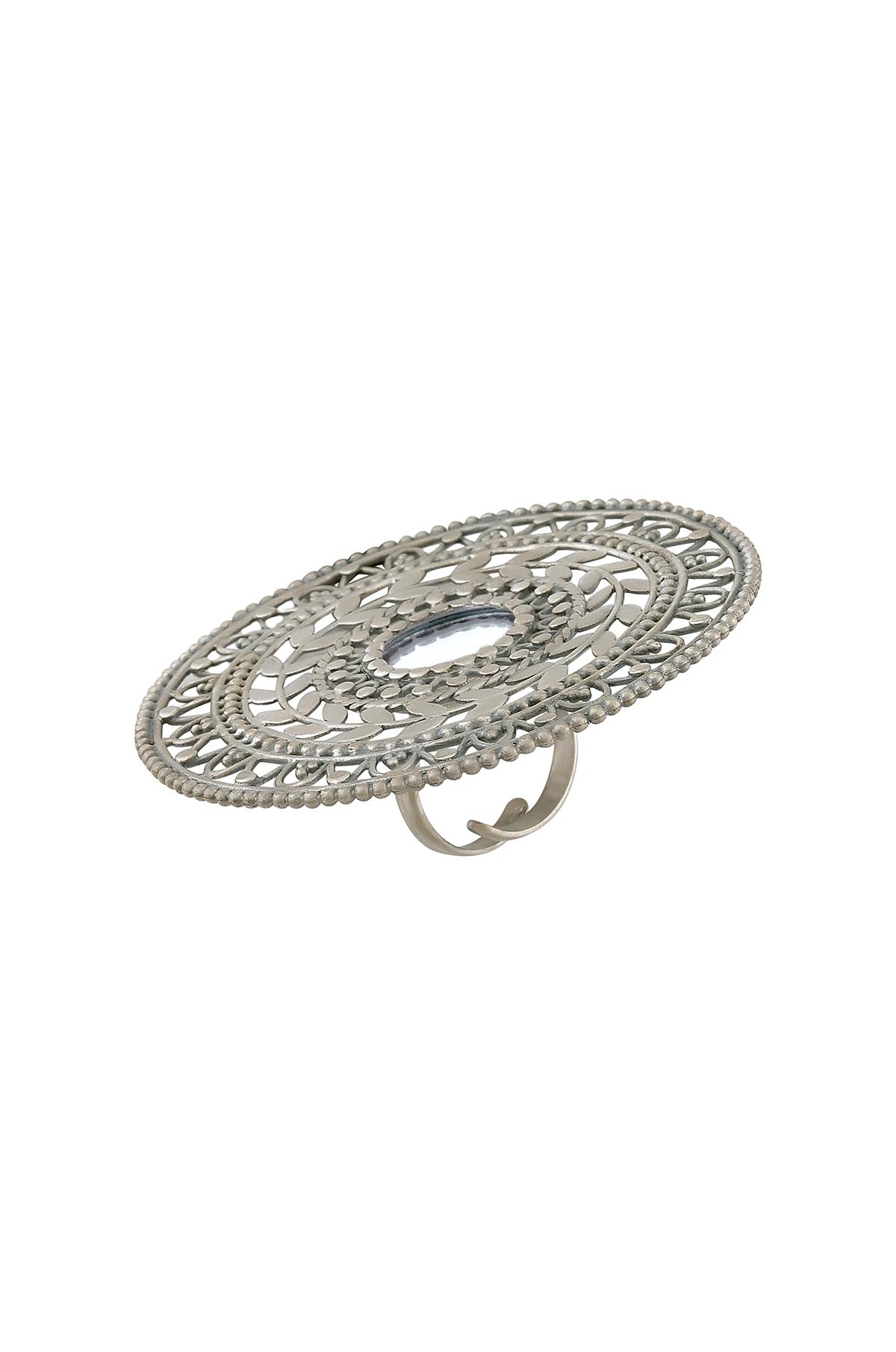 Silver Mirror Leaf & Rawa Ring