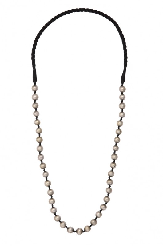 Silver Round Bead Necklace