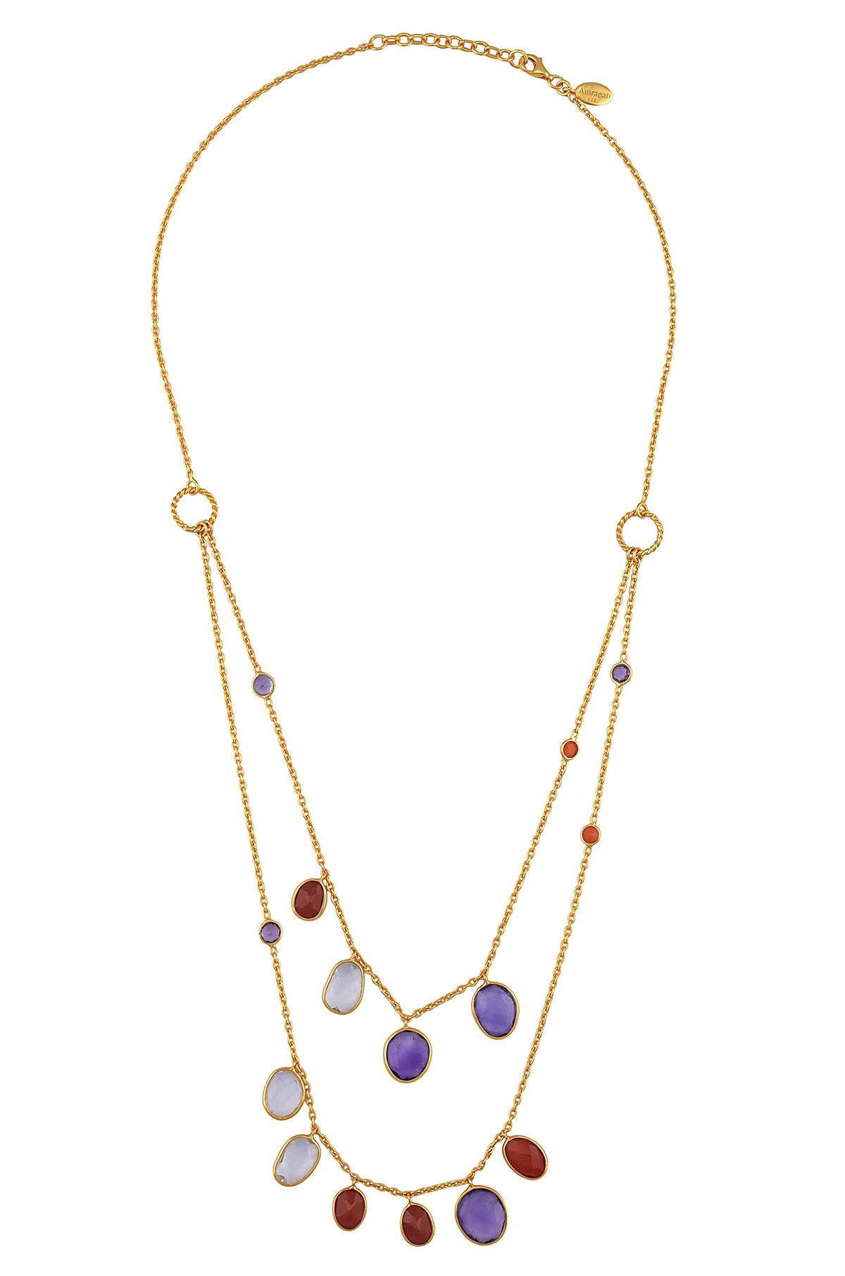 Multi Stone Chain Necklace