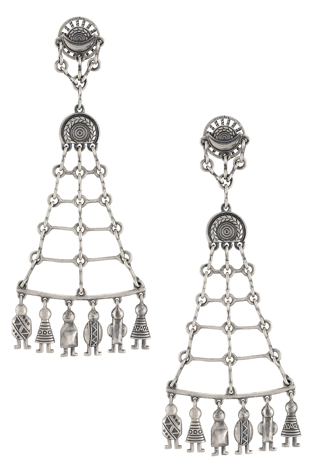Silver Plated Swinging Doll Masaba Earring