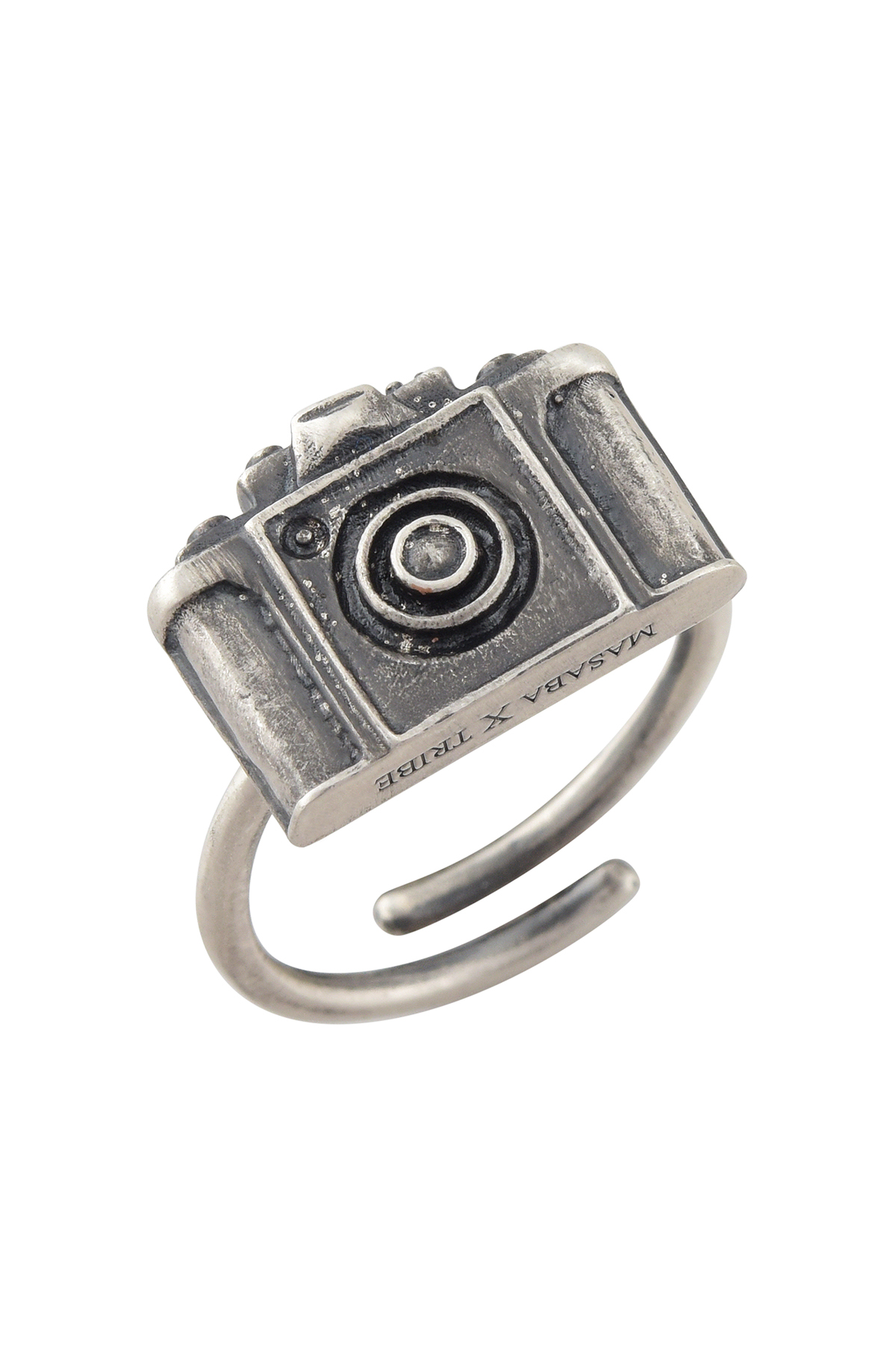 Camera Silver Plated Ring