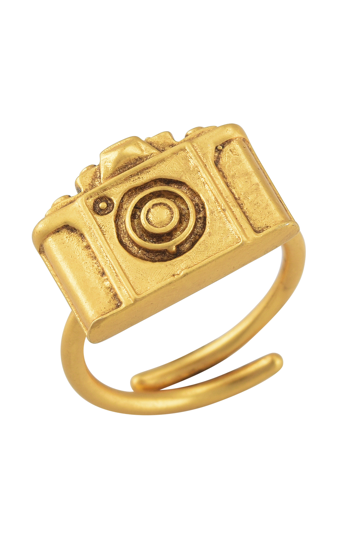Camera Gold Plated Ring
