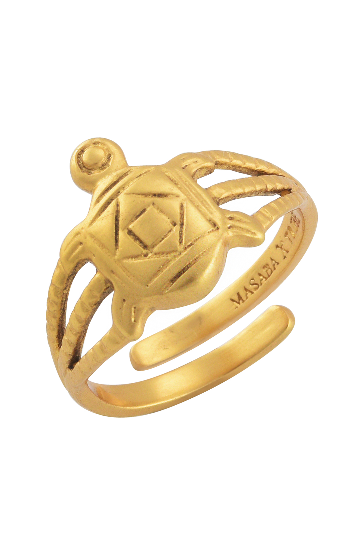Turtle Gold Plated Ring