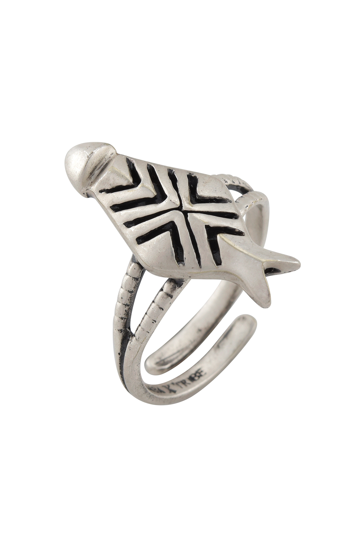 Ivory Mask Silver Plated Ring