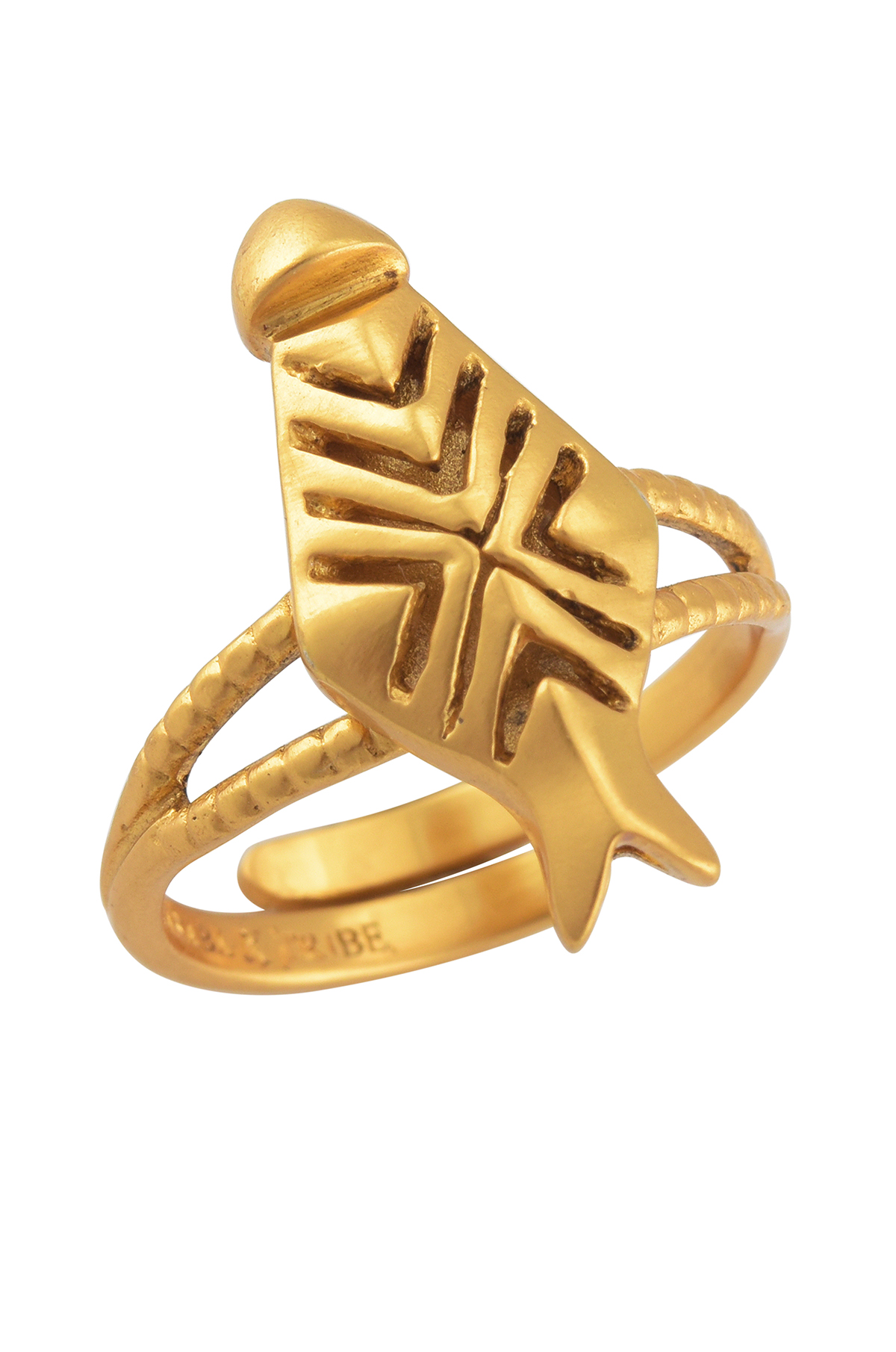Ivory Mask Gold Plated Ring