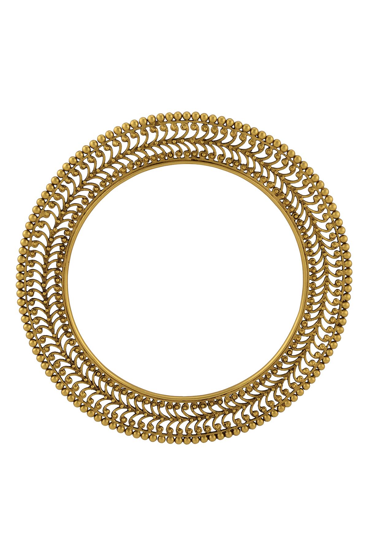 Silver Gold Plated Rawa Bangle