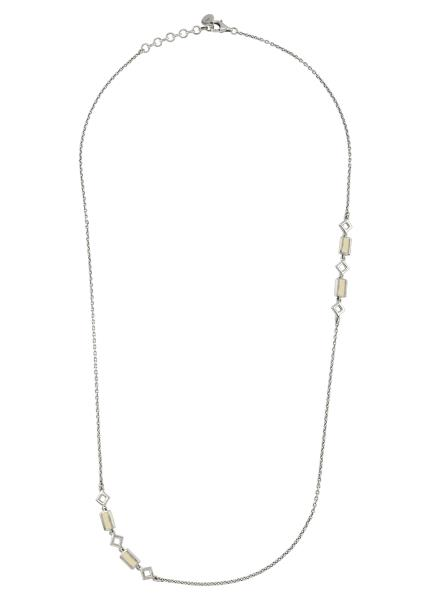 Silver Opal Chain Necklace