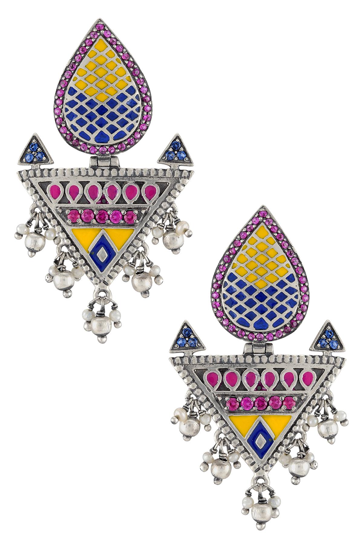 Color Pop Pear Geometric Earrings