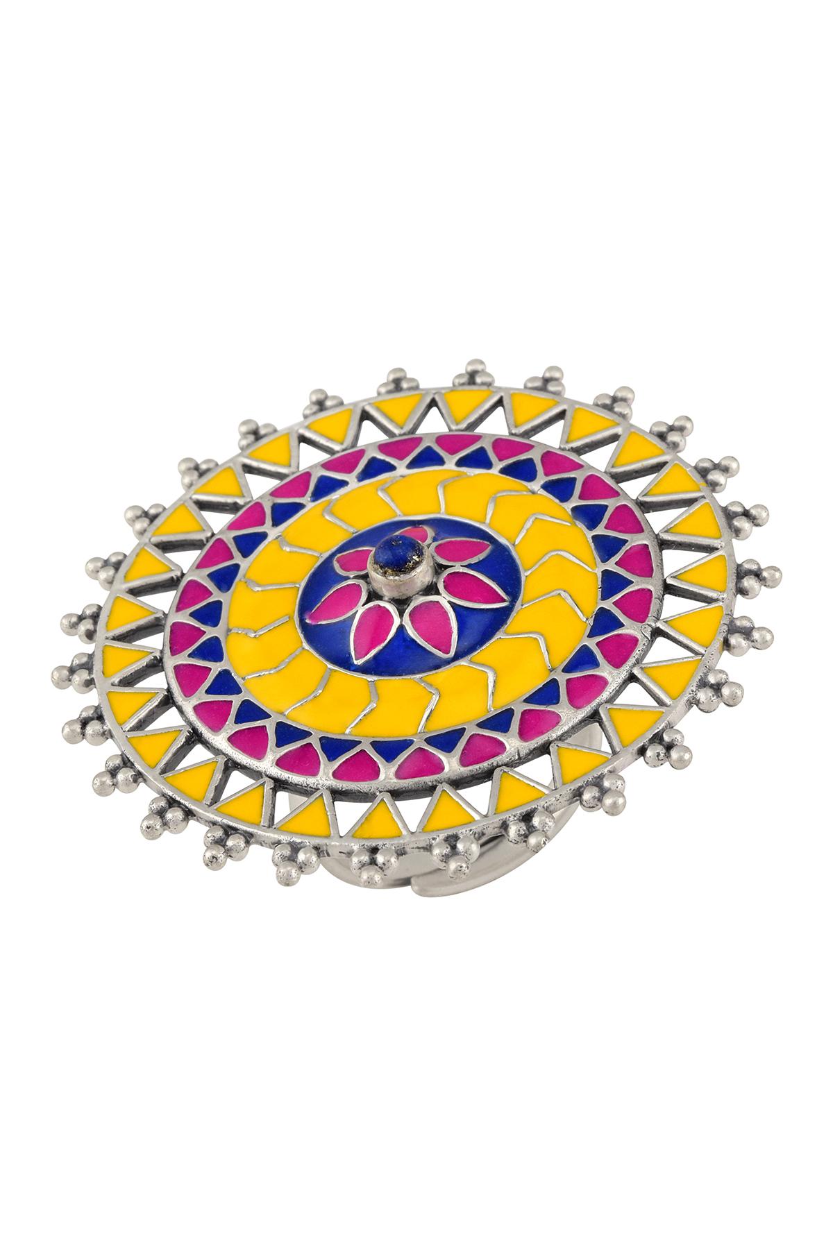 Rangoli Rawa Enameled Ring