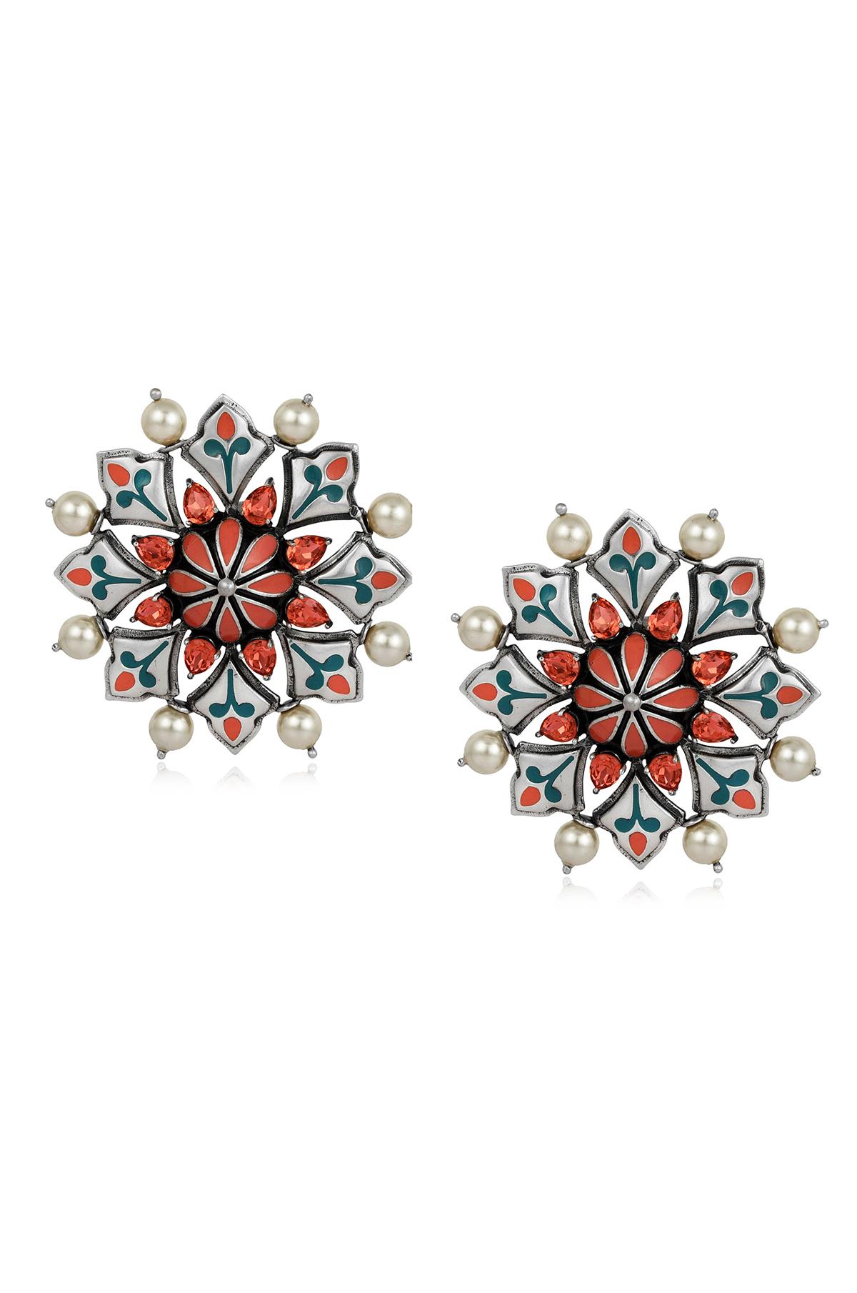 Mughal Garden Stud Earrings