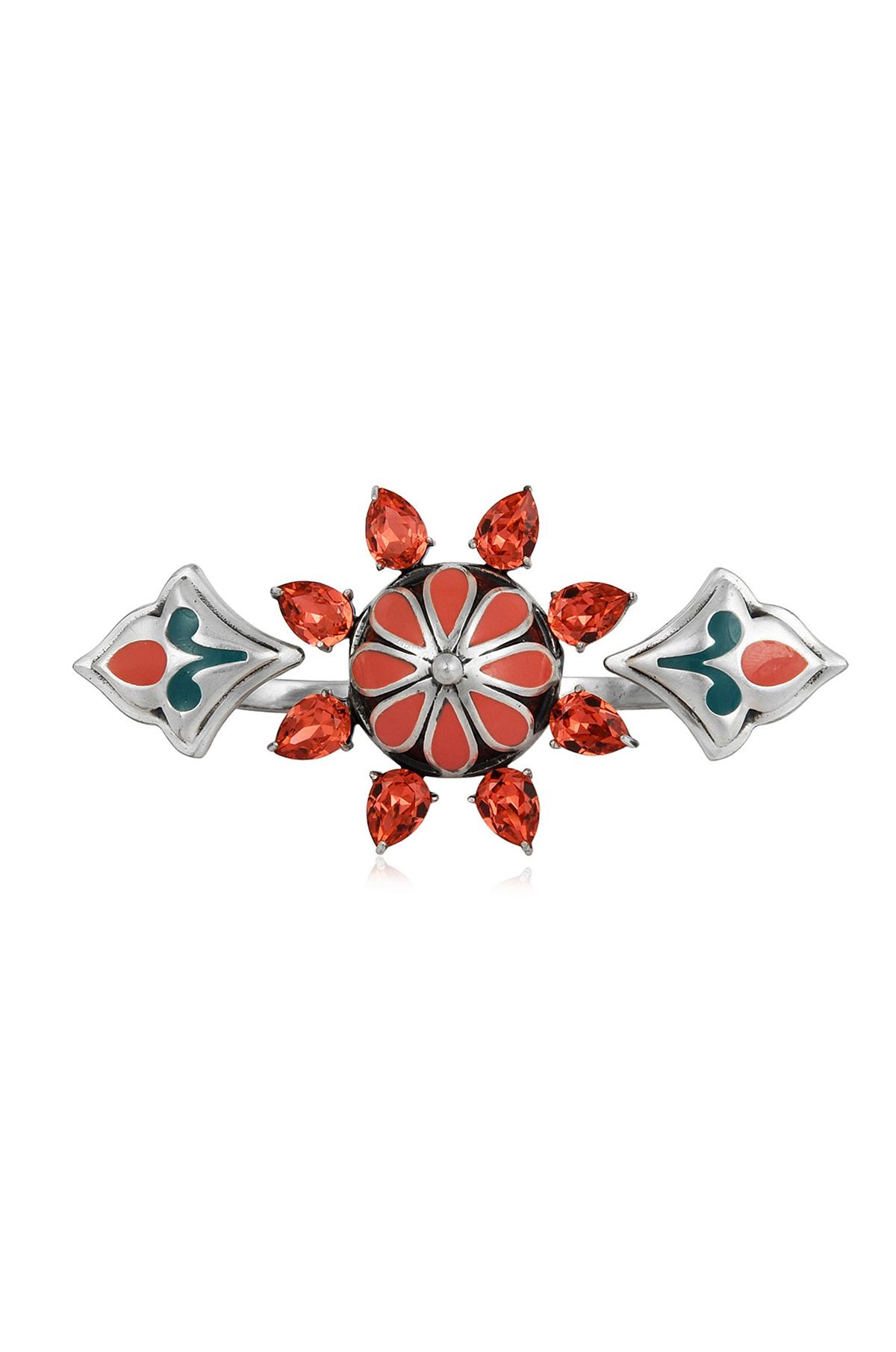 Mughal Garden Flower Ring