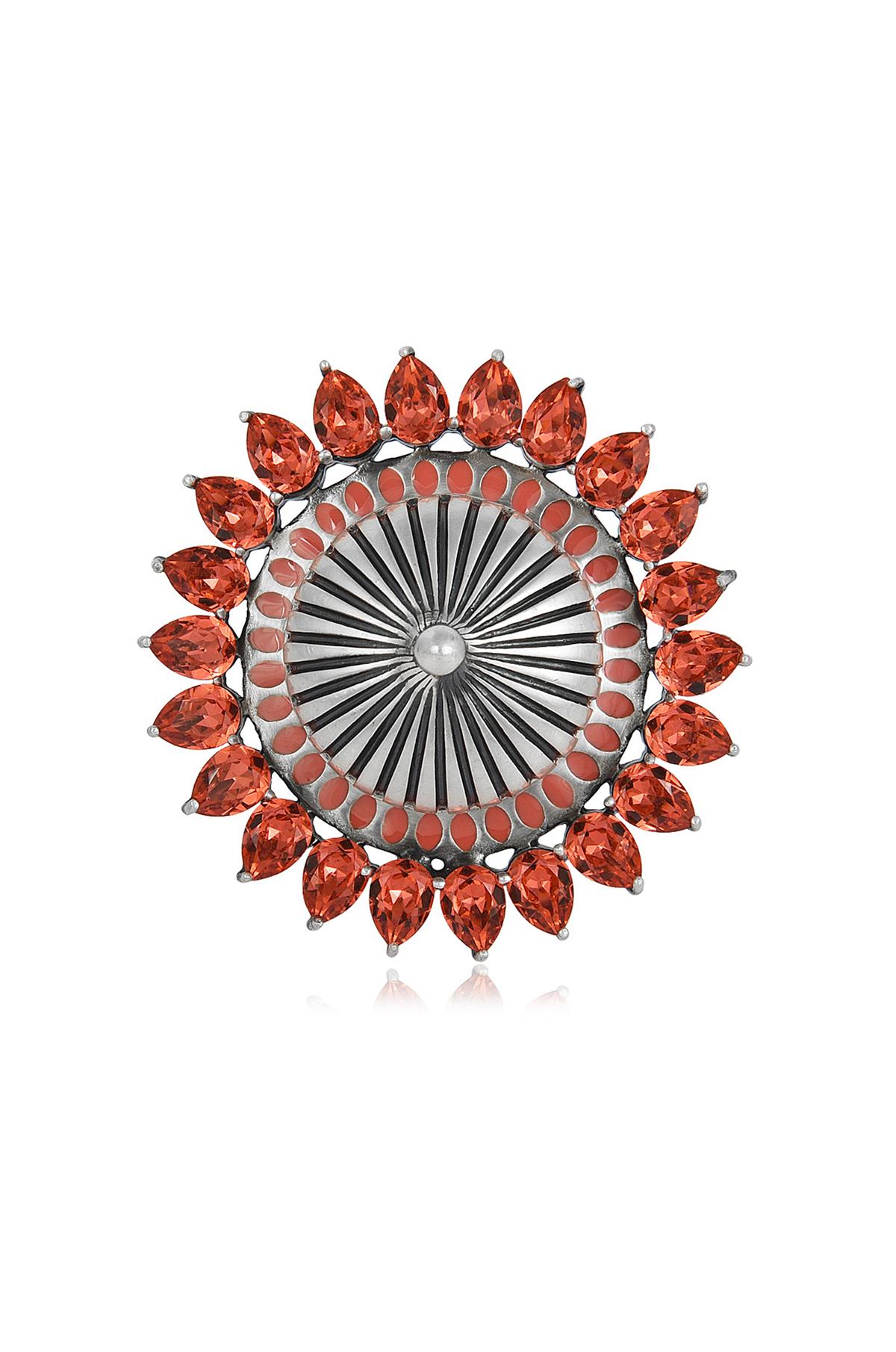 Mughal Garden Circular Ring