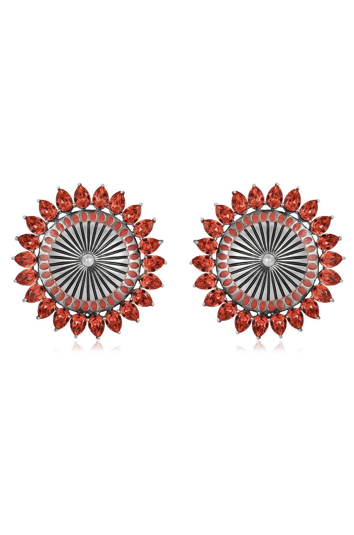 Mughal Garden Circular Earrings
