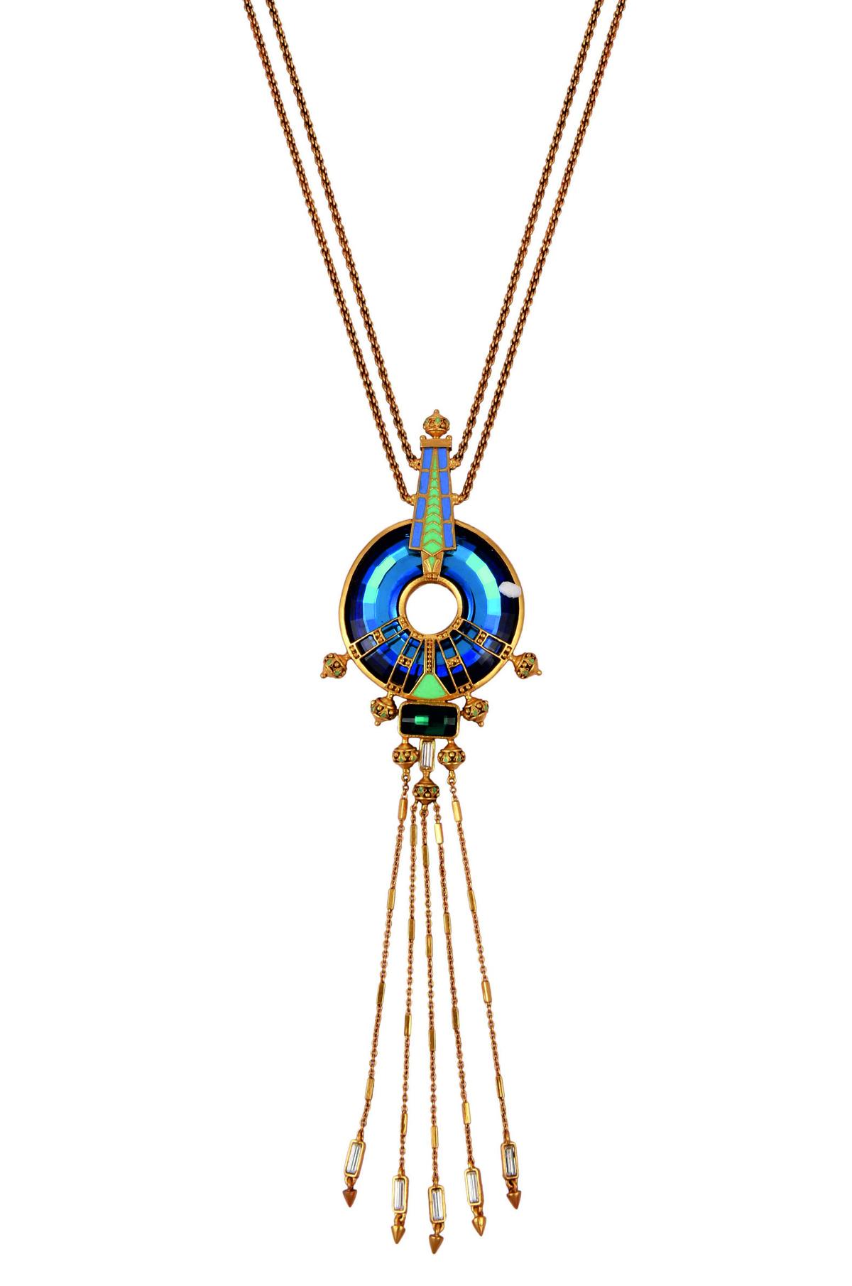 Baroque Marine Necklace
