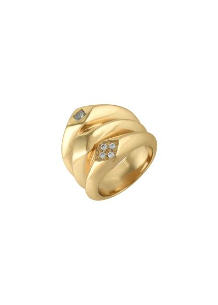 Gold Plated White Zircon Ring