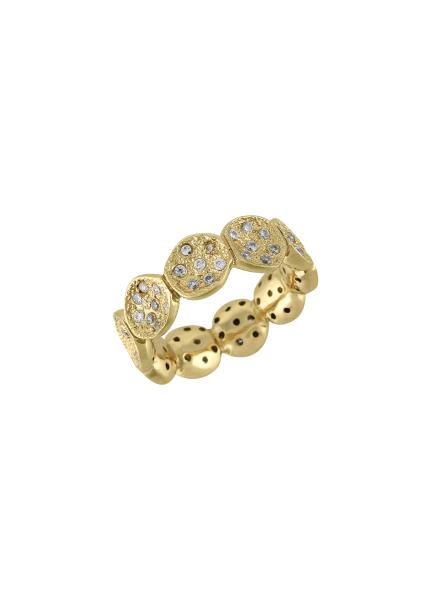 Gold Plated Zircon Bowl Ring