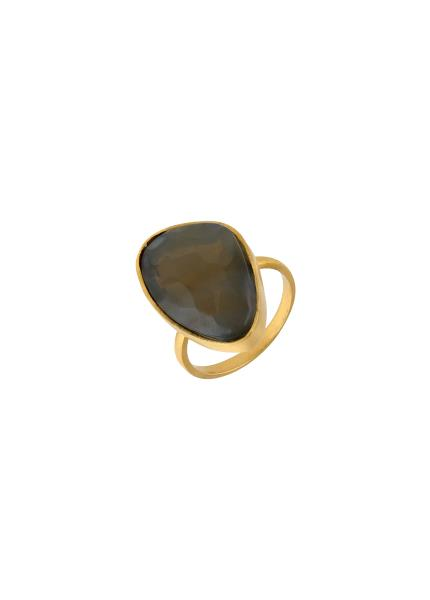 Gold Plated Abstract Labradorite Ring