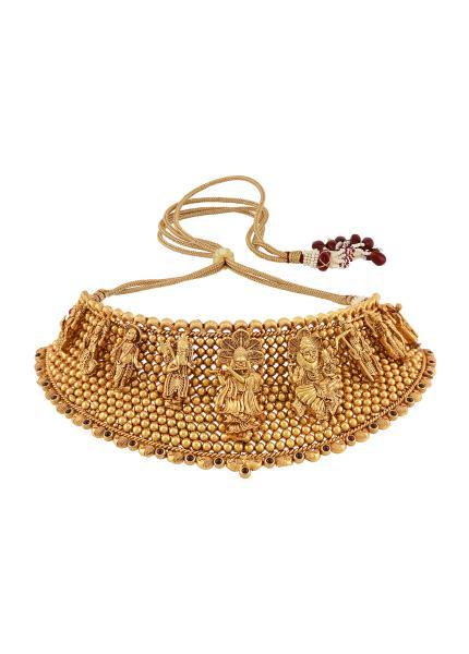 Silver Gold Plated Dashavatara Choker