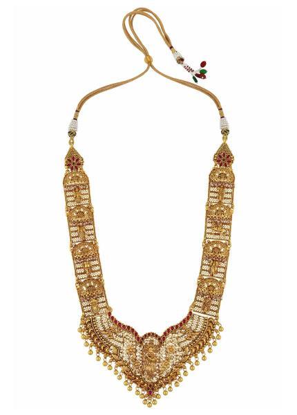 Silver Gold Plated Dashavatara Temple Necklace