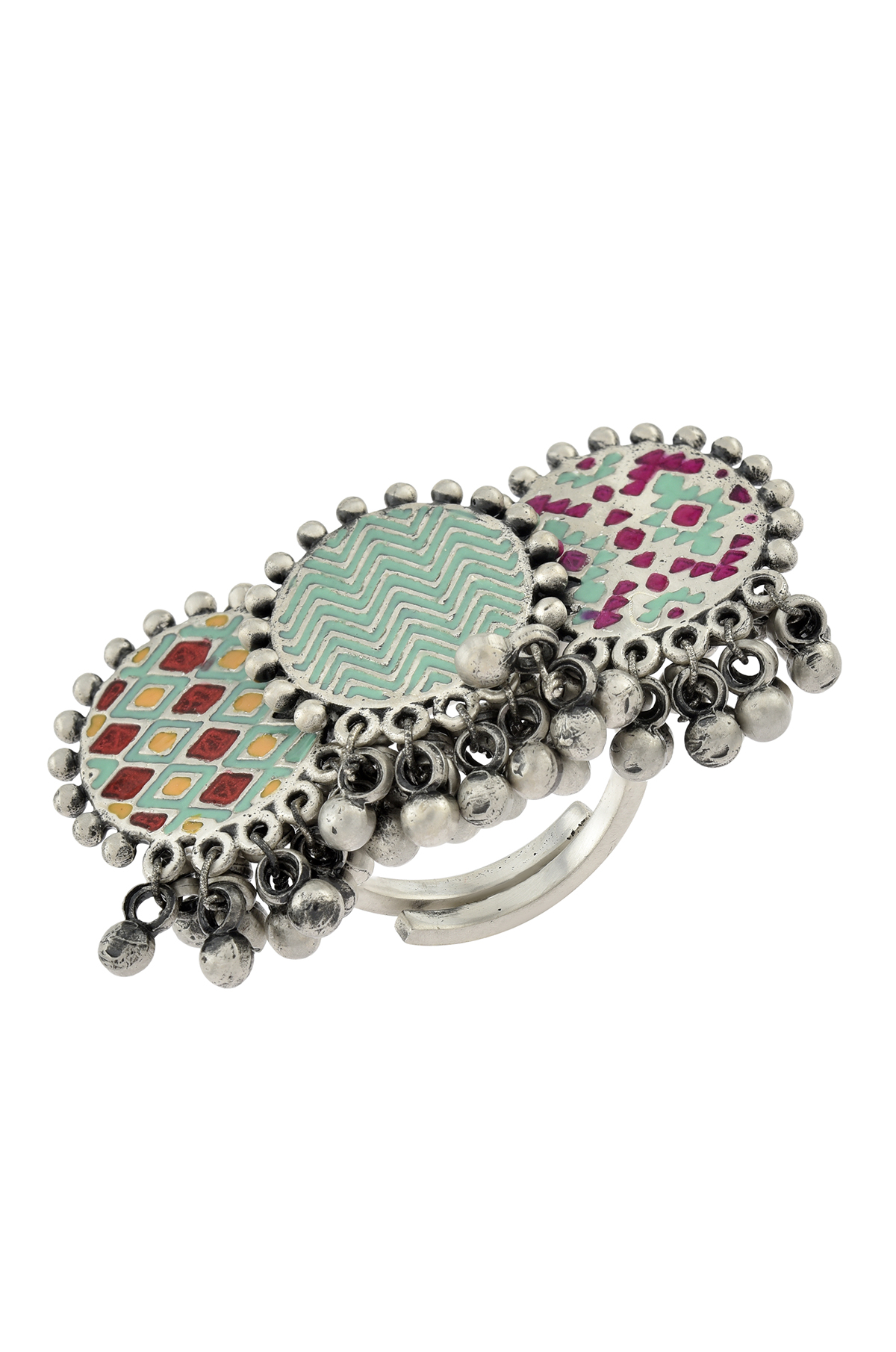 Silver Ghungroo Ring